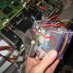 Heat sink with driver